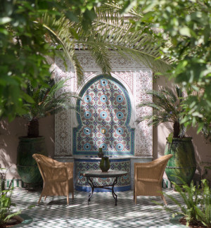 Luxury Moroccan patio lounge marrakech travel