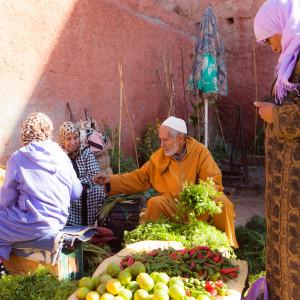 Locals vegetable market marrakech morocco travel