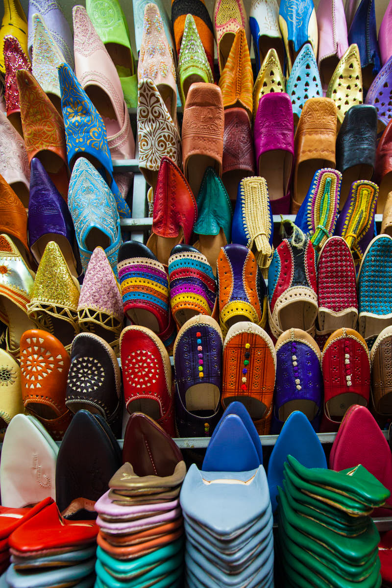 Colorful_Shoes_Souks_Marrakech