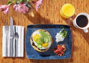 Top-down-food-photography-loews-santa-monica-breakfast